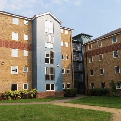 Brook street student accommodation buildings and the courtyard