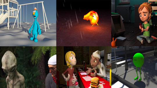 3D Animation students work