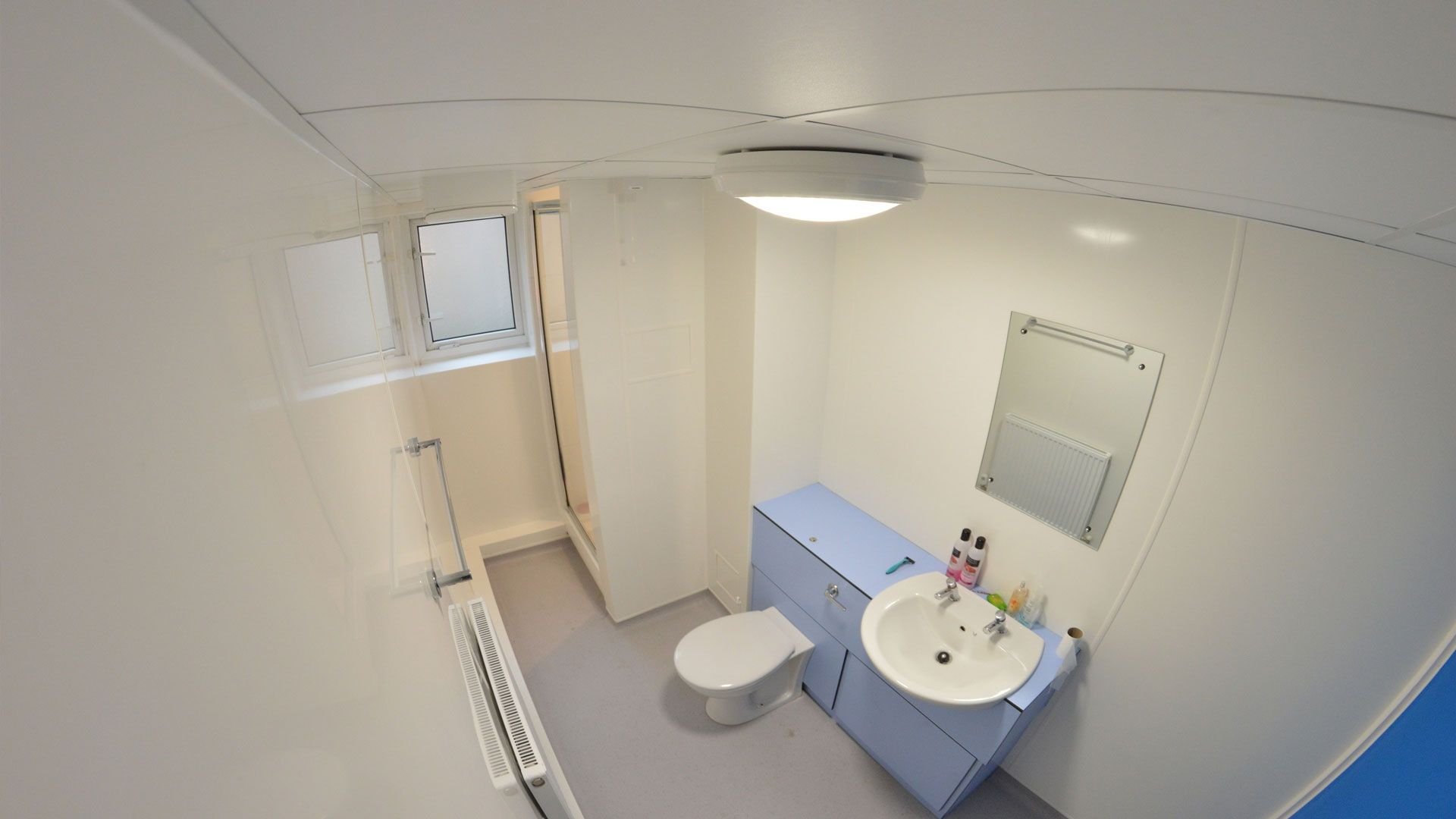 A shared bathroom at Brook Street
